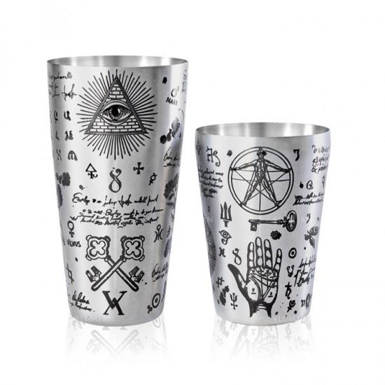 Yokai Alchemy | Boston Tin & Half Tin | 18-28 oz Argento