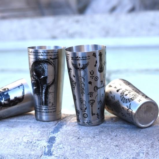 Kenko Alchemy | Boston Tin &  Half Tin | 28-18 oz Argento